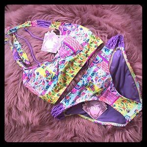 🆕 YMI Swimwear 🦋 Purple Patterned Bikini 🦋